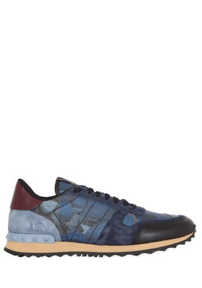 ROCKRUNNER  BUTTERFLY & LEATHER SNEAKERS