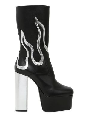 170MM FLAMES LEATHER ANKLE BOOTS