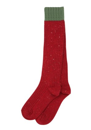 STRETCH HEAVY WOOL RIB KNIT SOCKS