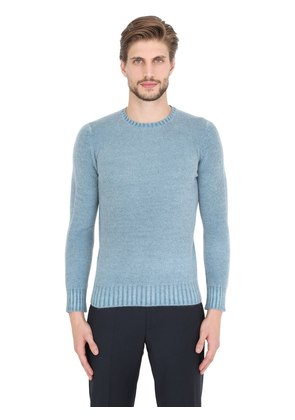FADED LAMBSWOOL CREW NECK SWEATER