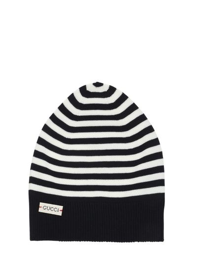 f1427f0d0ac STRIPES WOOL KNIT BEANIE HAT