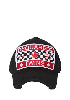 TWINS PATCH CANVAS BASEBALL CAP