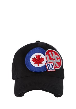 FLAG PATCHES CANVAS BASEBALL CAP