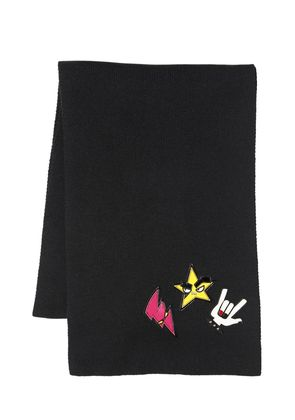 PUNK PATCHES WOOL SCARF