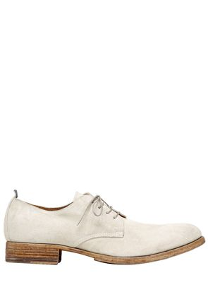SUEDE DERBY LACE-UP SHOES