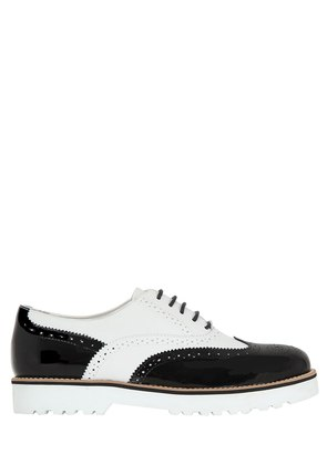 TWO TONE LEATHER OXFORD SHOES