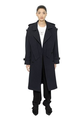 CRISSCROSS WOOL TRENCH COAT