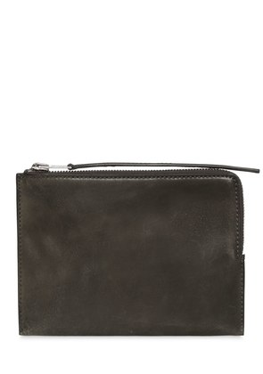 VINTAGE LEATHER ZIPPED MEDIUM POUCH