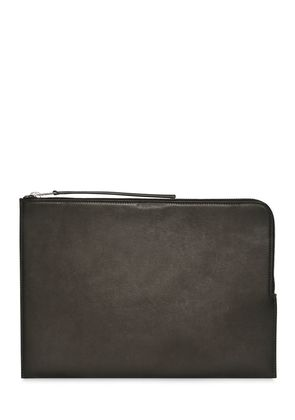 LEATHER ZIPPED LARGE POUCH