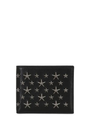 STARS STUDS LEATHER WALLET