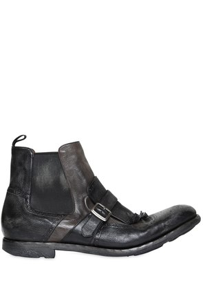 SHANGHAI 6 GLACE VINTAGE LEATHER BOOTS