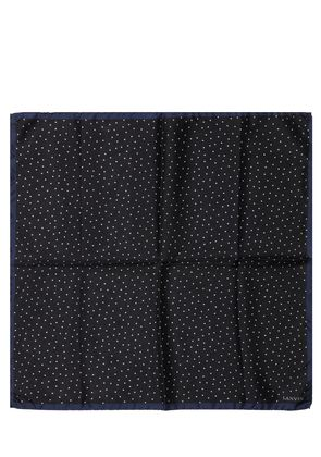 POLKA DOT PRINT TWILL POCKET SQUARE
