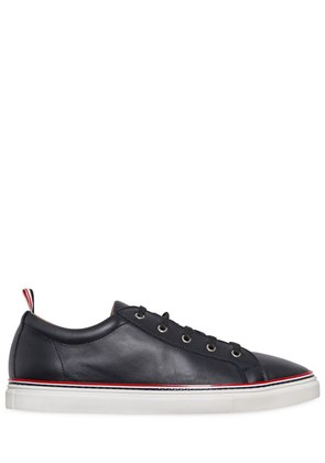 LEATHER LOW LACE-UP SNEAKERS