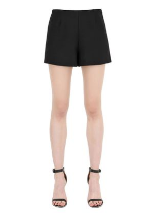 WOOL & SILK CREPE COUTURE SHORTS