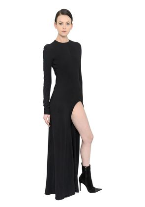 STRETCH CREPE DRESS WITH CUTOUT