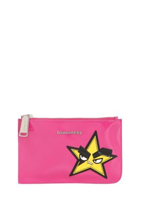 SMALL HAND PATCH PATENT LEATHER POUCH