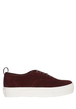 MOTHER SUEDE PLATFORM SNEAKERS
