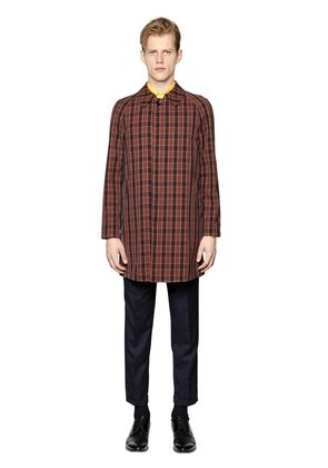 WATERPROOF CHECKED COTTON CAR COAT