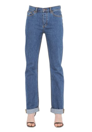 RELAXED FIT COTTON DENIM JEANS