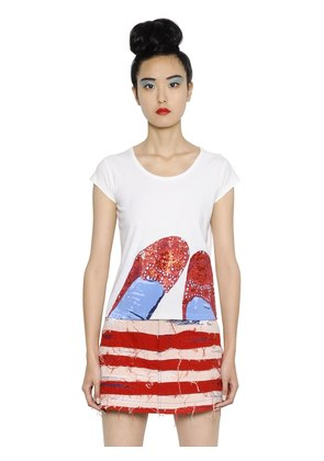 RUBY SHOES PRINTED COTTON JERSEY T-SHIRT