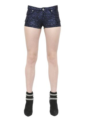 STAR COTTON BLEND JACQUARD SHORTS