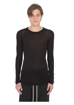 RIBBED COTTON JERSEY LONG SLEEVES