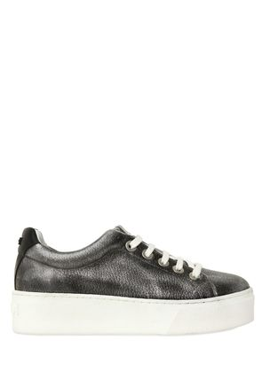 40MM METALLIC LEATHER SNEAKERS