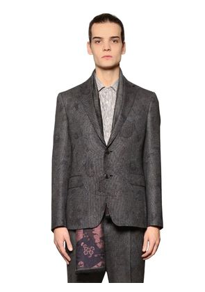 PAISLEY WOOL & SILK JACQUARD JACKET