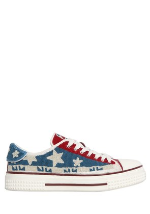 STREET COUTURE BEADED LEATHER SNEAKERS