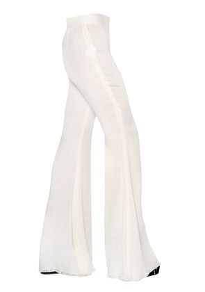 FLARED GAUZE TROUSERS