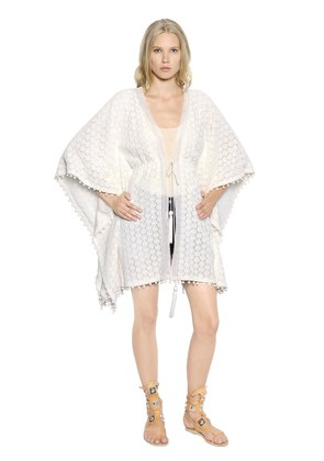COTTON CROCHETED LACE CAFTAN CARDIGAN