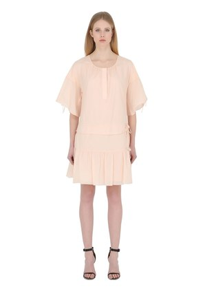 COTTON VOILE DRESS WITH TIES