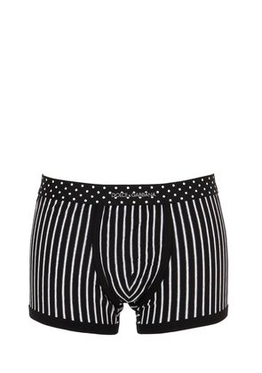 PINSTRIPED STRETCH JERSEY BOXER BRIEF