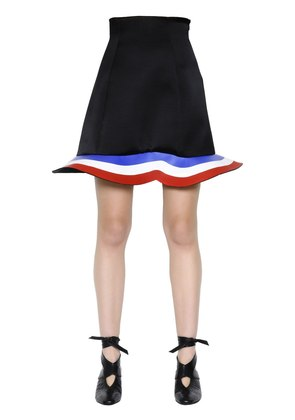 STRETCH WOOL & VISCOSE SCUBA SKIRT