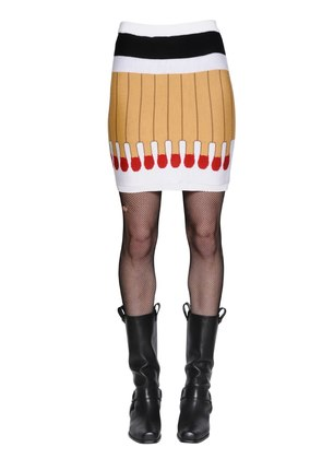 IT'S LIT INTARSIA WOOL KNIT SKIRT