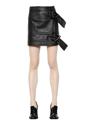 BELTED NAPPA LEATHER MINI SKIRT