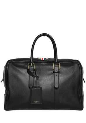 PEBBLED LEATHER DUFFLE BAG