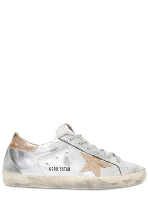 SUPER STAR METALLIC FAUX LEATHER SNEAKER