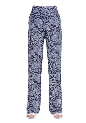 MITRANA PAISLEY SILK GEORGETTE PANTS