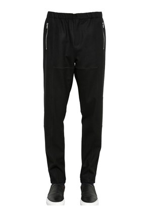 STRETCH WOOL GABARDINE JOGGING PANTS
