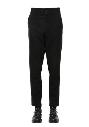18CM WOOL PANTS WITH FRONT BAND PATCHES