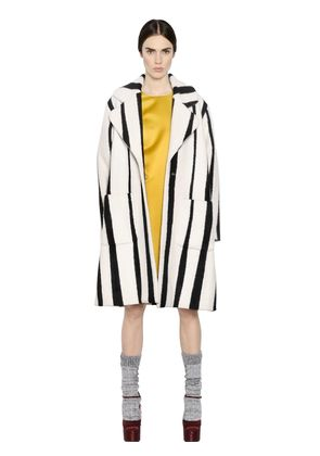 STRIPED BLEND WOOL COAT