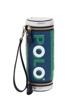POLO MINTS EMBOSSED LEATHER CLUTCH