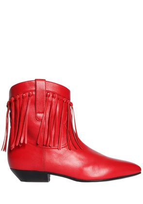 25MM TITI FRINGED LEATHER BOOTS
