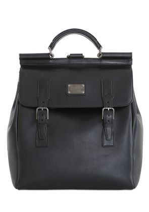 LEATHER MAXI BACKPACK