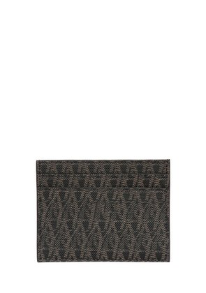 MONOGRAM FAUX LEATHER CARD HOLDER