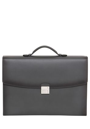 LEATHER SINGLE GUSSET BRIEFCASE