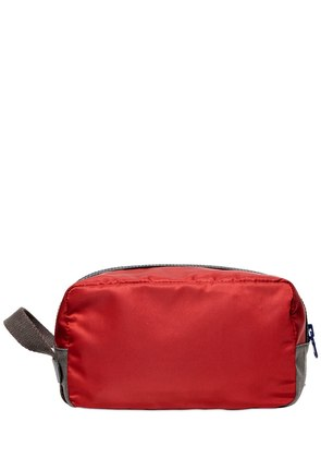 NYLON & DAUPHINE LEATHER TOILETRY BAG