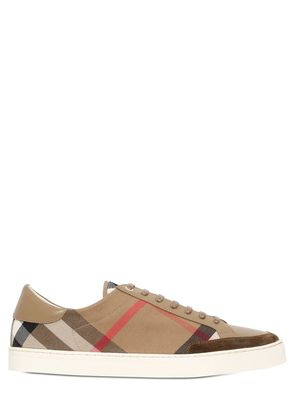 CHECKED CANVAS SNEAKERS