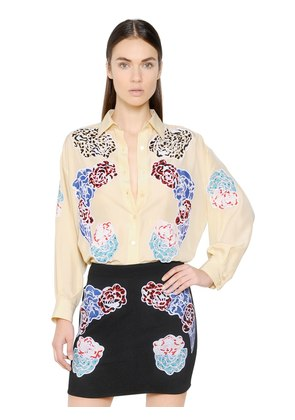 EMBROIDERED PARACHUTE SILK SHIRT